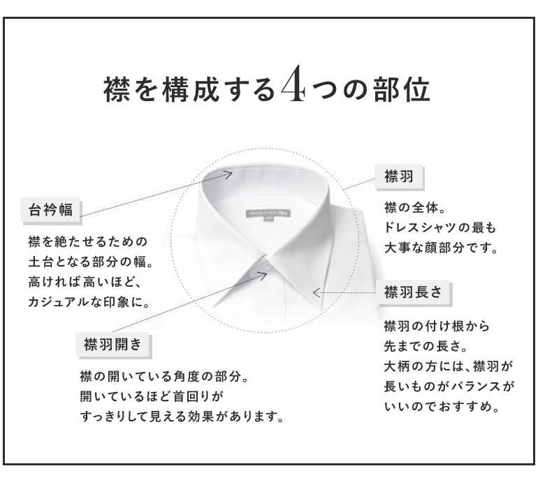 ワイシャツ 衿 選び方 襟